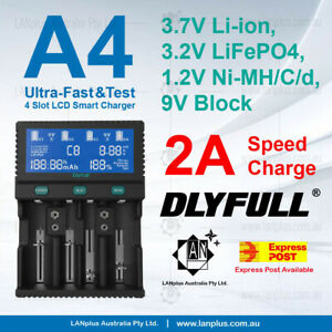 A4 Ultra-Fast 2.0A D Size Li-ion 18650 AA AAA NiMH LCD  Charger 26650 >new i4 D4