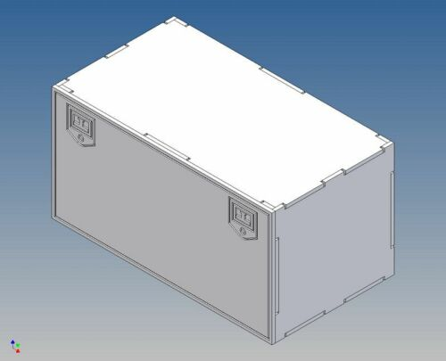 Dsb100-staukiste-Boite de Rangement pour camion TAMIYA m1:14-100 Long X 52 Haut X 56 profondément