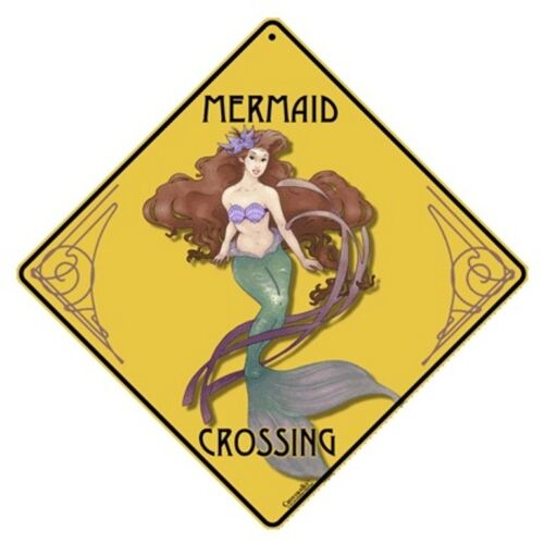 Mermaid Crossing Sign NEW 12X12 Metal