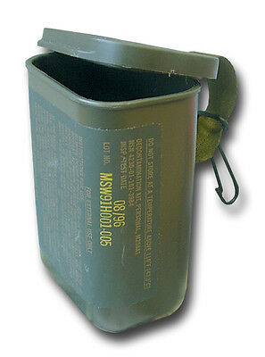 2 x US ARMY SMALL WATERPROOF PLASTIC STORAGE BOX - tool boxes, drill bits, etc.