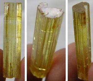 #14 17.00ct Cambodia Natural Rough Terminated Heliodor Crystal Specimen 3.40g