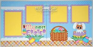 CraftEcafe-Premade-Scrapbook-Pages-Paper-Piecing-Baby-Easter-Bunny-BLJgraves-5