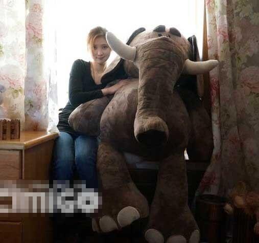 Giant Big Soft Huge Elephants Plush Stuffed Animals Soft Toys Doll Birthday Gift