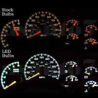 Dash Instrument Cluster Gauge White Led Light Upgrade Kit Fits 99-02 Chevy Tahoe