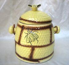"Vintage ""House of Webster"" Honeycomb Beehive Cracker Cookie Jar, Texas USA"