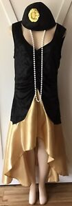 Womens-Plus-Flapper-Costume-New-1X-Gatsby-XL-14-16-Roaring-20s-Halloween-NWT