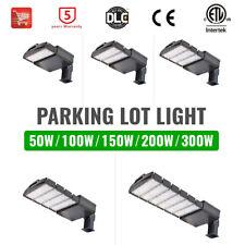 Led Parking Lot Shoebox Pole Light 100 150 200 300w Commercial Street Area Light