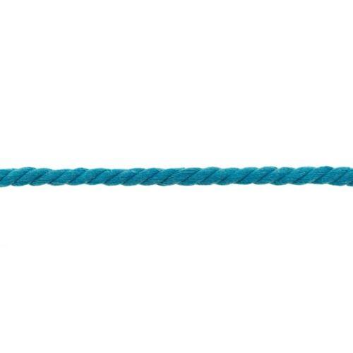COTONE cordino ruotato 8mm Aqua blu ideale per cucire /& lavoro manuale