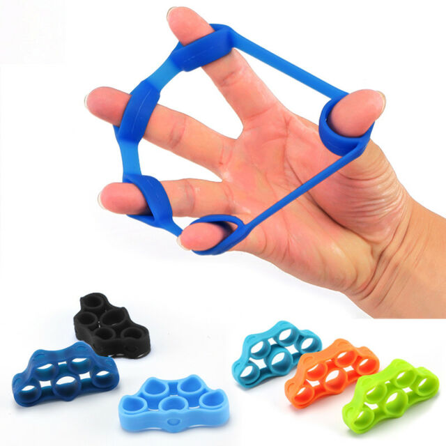 Finger Stretcher Hand Grip Exerciser Strength Wrist Exercise Finger Trainer 4Pcs