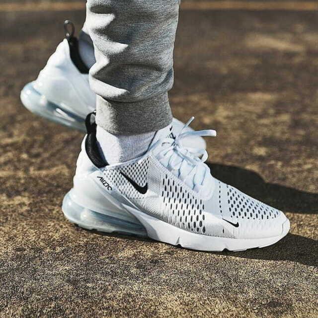 Nike Air Max 270 Herren Sneaker WeißWeißSchwarz, EU 43 (AH8050 100)