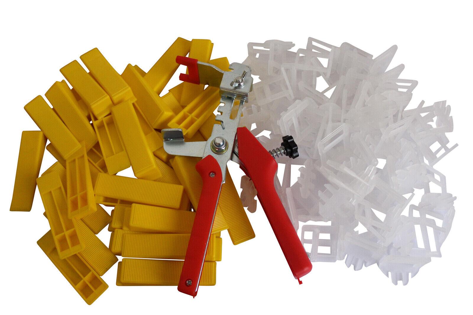 Fliesen Nivelliersystem XXL SET 1 mm Fuge 4000 Laschen 1000 Keile Zange