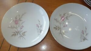 "Salad Plates 5 7.5"" dessert plates Romance Rose by Fine China of Japan"