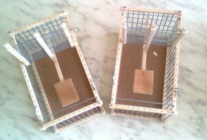 2-Cages-Piege-Accrochables-Pouvant-Service-Cages-de-Transport