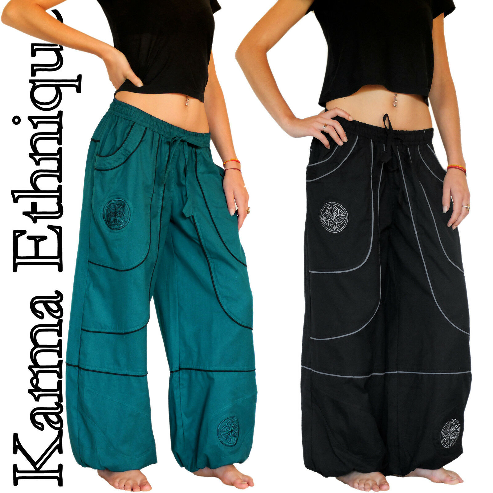 Pantalon MIXTE (36 38 40 42 44 46 48 50 52) sarouel coton grande size PA15