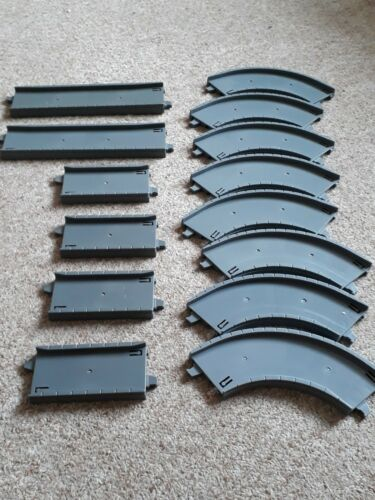 14 sections of grey road. Tomy trackmaster road /& rail motorised railway