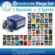 GameCube MegaSet - Konsole #lila (inkl. 5 Spiele, Controller & Zub.)