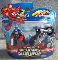 Super Hero Squad 2009 Marvel Captain America & Motorcycle