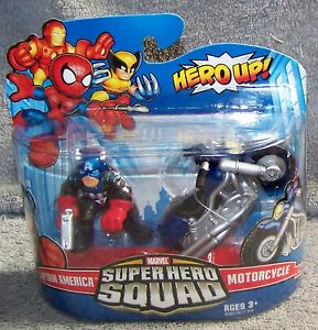Wings Marvel Super Hero Squad CAPTAIN AMERICA /& MOTORCYCLE Variant Bike w Star