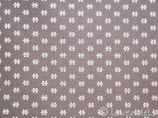 Dirndlstoff ♥ Baumwolle grau Trachten Stoff Blümchen Blumen ♥ Trachtenstoff