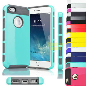 For-iPhone-5-5S-5G-Hybrid-Rugged-Rubber-Shockproof-PC-Protective-Hard-Case-Cover