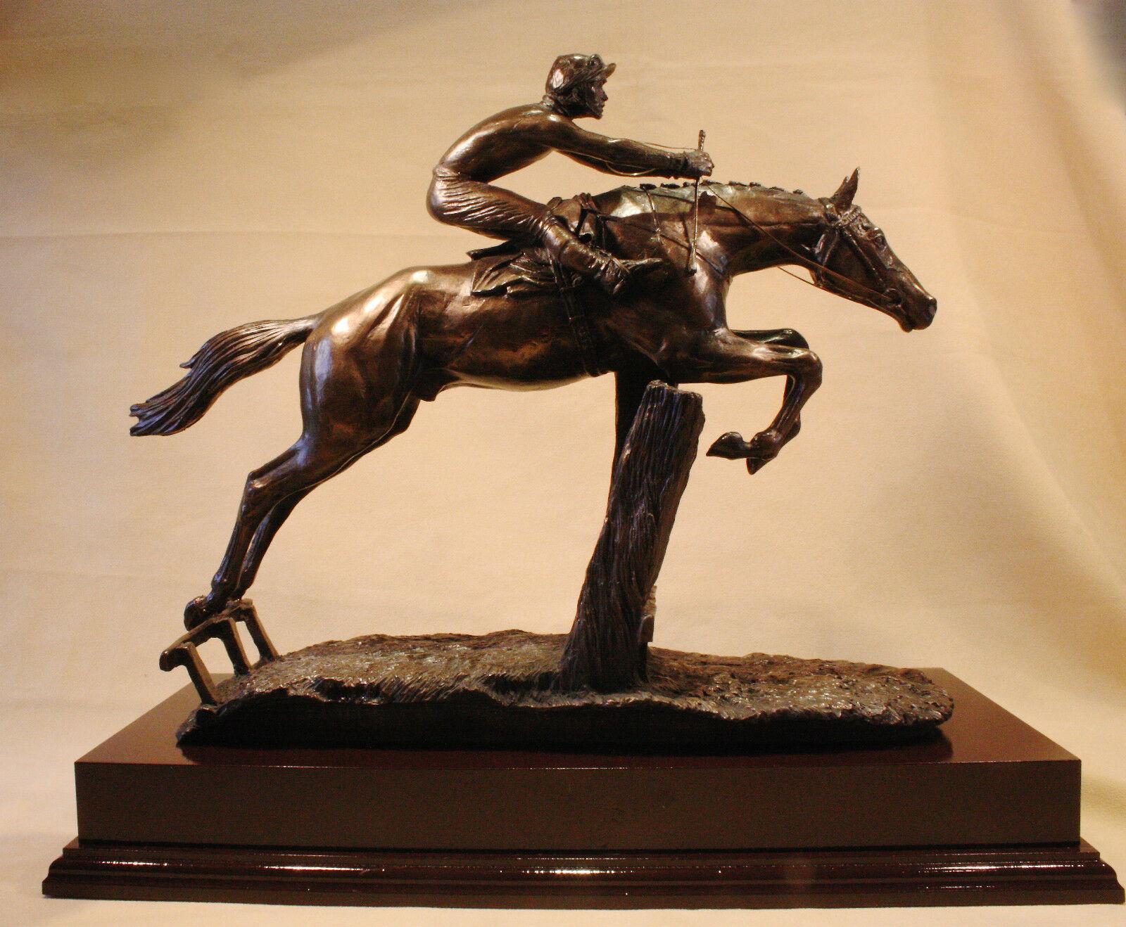 At Full Stretch - Bronze Trophy Sculpture - David Geenty