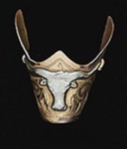 NEUF WESTERN Austin Accent Cowboy Boot Tip Rand gravée or avec argent Longhorn
