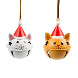 Chat en Noël Chapeau Cloche Décoration