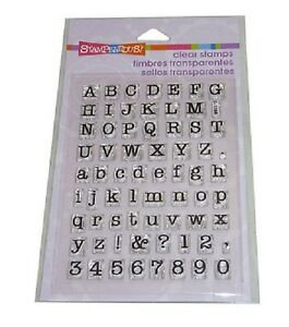 STAMPENDOUS RUBBER STAMPS CLEAR TYPEWRITER ALPHABET NEW STAMP clear SET