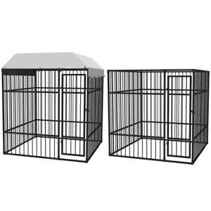 Recinzione Per Cani Giardino.Vidaxl Gabbia Cani Per Giardino Recinto Recinzione Animali Con E