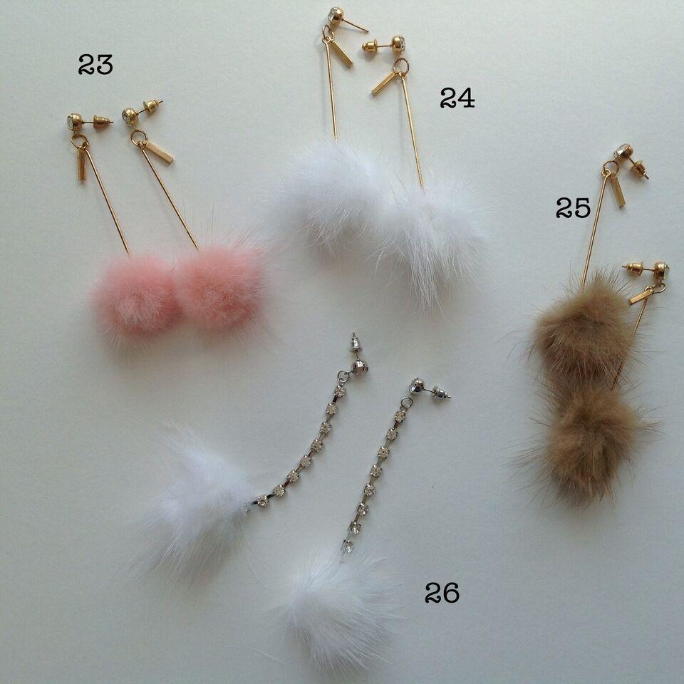 Øreringe, andet materiale, Øreringe creoler perler