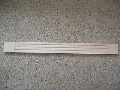 """8ft 1-1//4/"""" x 2ft 4pc Maple Wood FLUTED Molding Trim Moulding Corbel Onlay"""