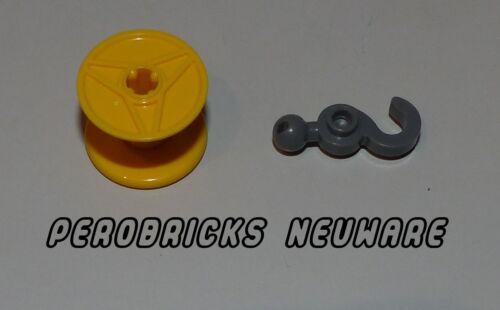 Lego Technic Technik Seil Trommel Schnur 3x2 gelb #32012 mit Haken #30395