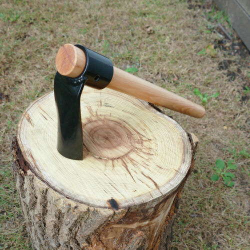 Curved Hand Adze Log Carving Tool Felled Woodworking Adze Axe 18 IN