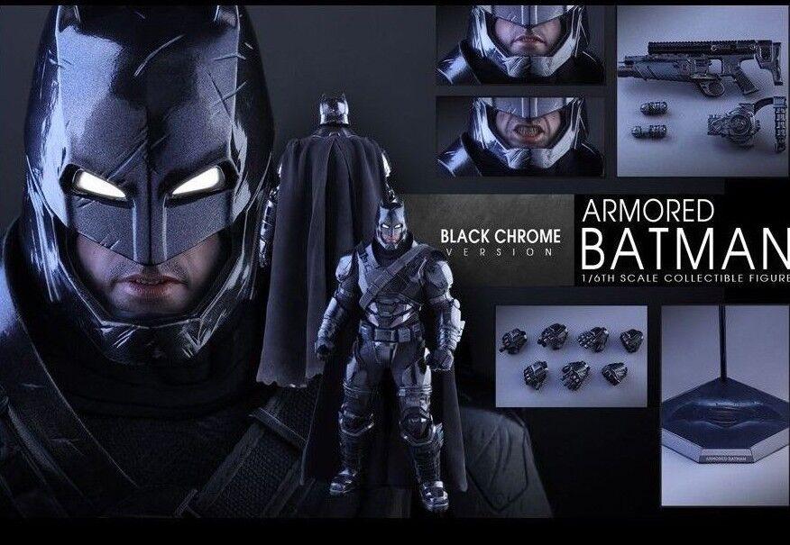 Hot Toys 16 BVS amanecer de la justicia Armored Batman Cromo Negro versión MMS