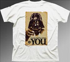 Imperio necesita usted Star Wars Darth Vader Jedi Yoda Impreso Camiseta de algodón 9928