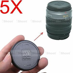 Image Is Loading 5x Rear Lens Cap Cover F Olympus Micro