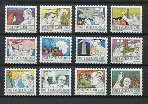 s25516) DEALER STOCK VATICANO 1984 Pope world travels 12v (X10 SETS)