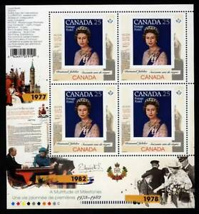 QUEEN-Elizabeth-ll-Diamond-Jubilee-3-6-MiniSheet-of-4-CANADA-2012-MNH-2515i