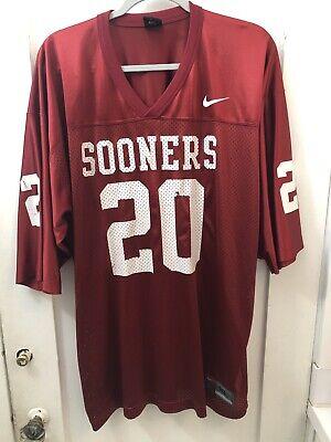 Oklahoma Sooners #20 Nike Football Jersey Size Mens XL Maroon Mesh Billy Sims   eBay
