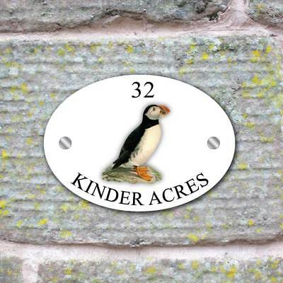 Curlew House Sign Plaque House Name Door Number  Bird House Sign GLASS EFFECT