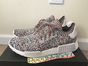 343dc84763e5d Adidas NMD R1 PK Primeknit Rainbow Static Multi color Mens sizes ...