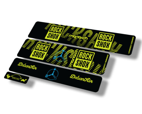 Details about  /Rock Shox MONARCH 2020 RT3 Rear Shock Decal Sticker Adhesive Set Lime Green