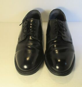 THOROGOOD-Vintage-USA-Made-Black-Patent-Leather-Postal-Shoes-in-a-size-9-5-EEE