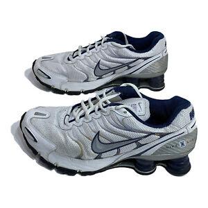 Nike Shox Turbo+ VI Grey White Blue Mens Size 7 Running Shoes 318161-106 2007