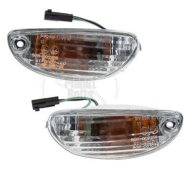 NoCut Front Mirror Turn Signal For Suzuki GSXR 600 750 Euro Light Blink Smoke