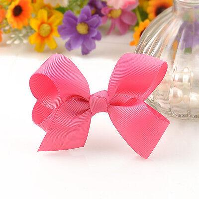 Lovely Baby girl Boutique Hair Bows clip Alligator Clip Headband Ribbon Headwear