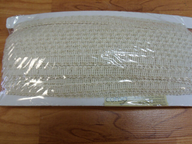 """conso 1//2/"""" Scroll Braid Gimp color white A01 36 Yards roll style 009940"""