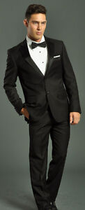 two piece black tuxedo suit fellini 4 a groom prom wedding father of