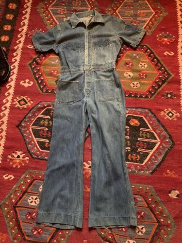 vintage 1970s Denim Jumpsuit