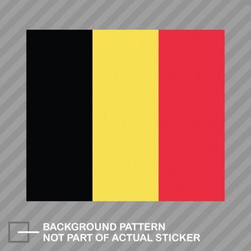 Belgian Flag Sticker Decal Vinyl Belgium BEL BE